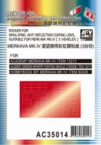 Sticker for Simulating Anti-Reflection Coating Lens - Suitable for Merkava MK.IV