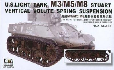 1:35 M3 Stuart Light Tank Suspension