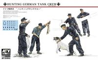 1/35 Hunting Panzer Crew - 5 Figures With Dog & Rabbits
