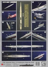 1/350 Japanese Navy I-19 Submarine Detail Parts