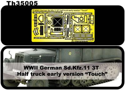 1:35 WWII German Sd. Kfz.11 3T Half Truch Early Version Etching Parts for Detail