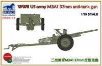 1/35 WWII US ARMY M3A1 37mm ANTI-TANK GUN