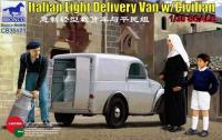 1/35ITALIAN LIGHT DELIVERY VAN w/CIVILIAN