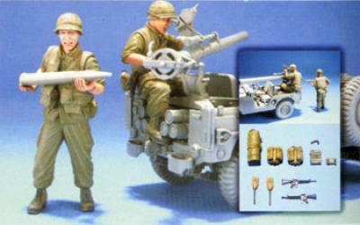 1:35  VN US Marine M38A1C 106mm Crew 2 Figures