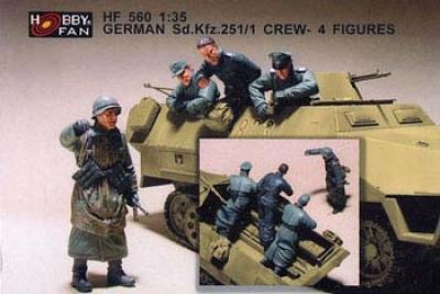 1:35  German SD.KFZ 251/1 Crew 4 Figures