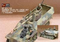 1:35  German Sd.Kfz 251 Crew Set (Driver and 7.5cm Gunner) 2 Figures
