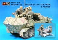 1:35  German HG Panzer Division 2cm GunCrew - 2 Figures