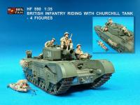 1:35 British Infantry Riding with Churchill Tank - 4 Figures
