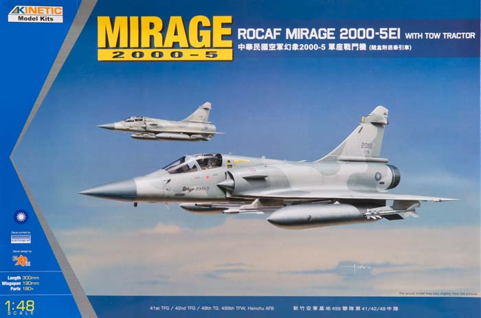 1/48 ROCAF Mirage 2000-5Ei with Tow Tractor