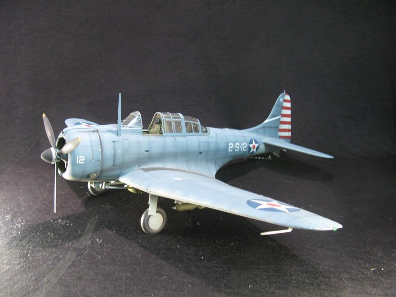 "1:18 U.S. Navy SBD-3 Dauntless ""Battle of the Coral Sea"" Prebuilt Mode"