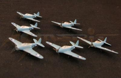 WWII TBD-1 Torpedo Bomber  1/350 Scale set of 6