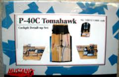 1:48 Mustang P-40C Tomahawk Cockpit Detail-up Set