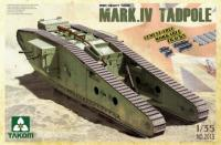 WWI Heavy Battle Tank Mark IV Male Tadpole w/Rear mortar