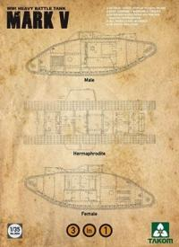 WWI Heavy Battle Tank Mark V 3 in 1