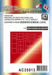 1:35 AFV Sticker for Simulating Anti-Reflection Coating Lens - Leopard 2 A5/A6