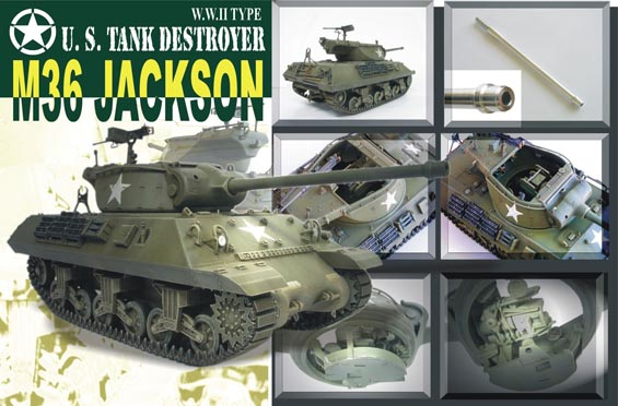 1:35 WWII US Tank Destroyer M-36 Jackson