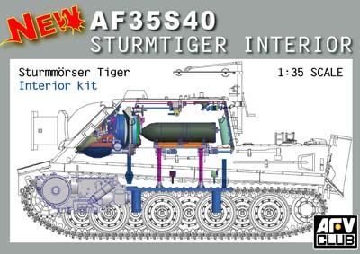 1:35 Sturmmorser Tiger Interior Kit