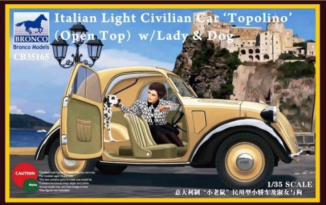 1/35 ITALIAN LIGHT CIVILIAN CAR (OPEN TOP) w/LADY