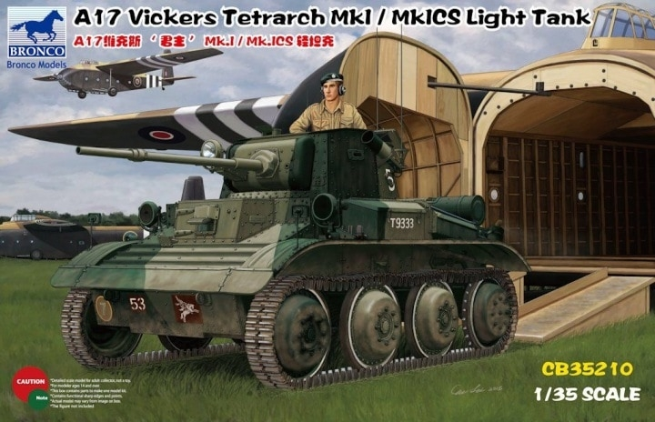 1/35 A17 VICKERS TETRARCH MKI/MKICS LIGHT TANK