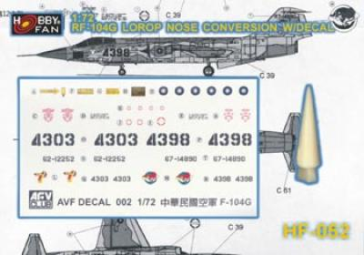 1:35  RF-104G LOROP NOSE Conversion W/ DECAL