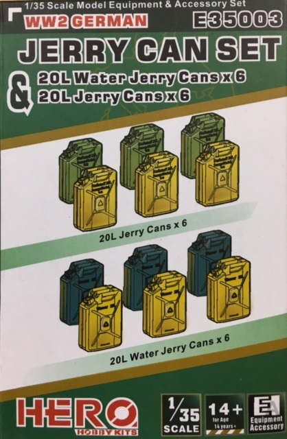 1/35 WWII Jerry Cans and Water Can Set