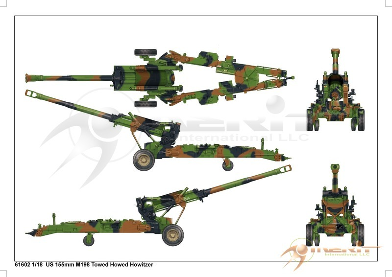 1:16 M198 US 155mm Towed Howitzer Model Kit